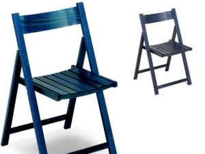 190, Platzsparende Stühle, in Holz, faltbar