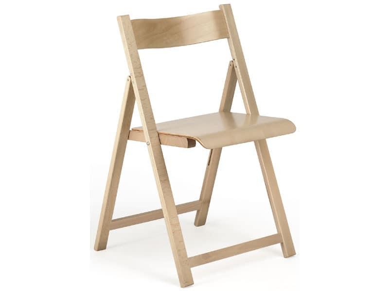 194, Leichte Stuhl, aus Holz, zusammenklappbar, für Restaurant und zu Hause