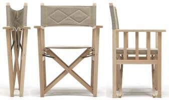 Dolce Vita, Faltbare Stuhl aus Holz für Innen- und Außenbereich