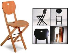 Erica, Klappstuhl aus Holz, für Heim und Büro