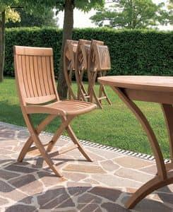 Harmony Klappstuhl, Holz-Klappstuhl, für den Außenbereich