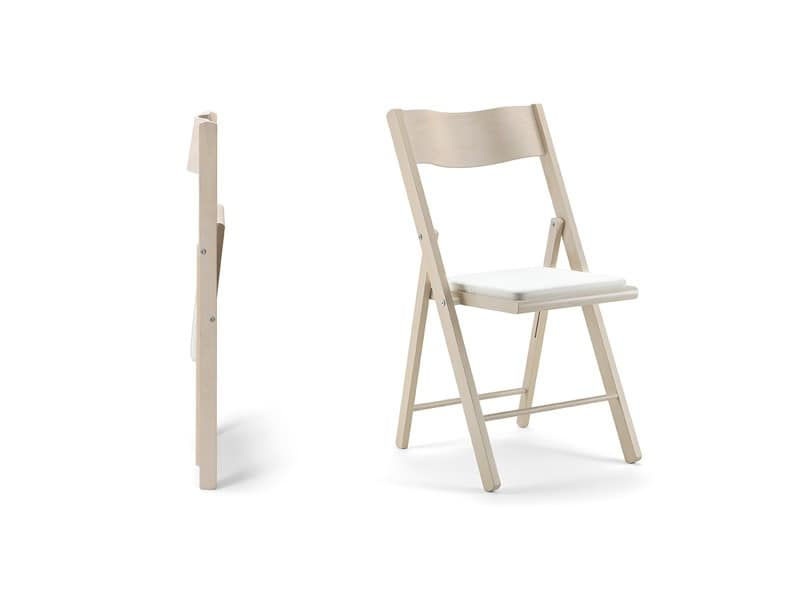 holz klappstuhl gepolsterte sitzfl che f r veranstaltungen idfdesign. Black Bedroom Furniture Sets. Home Design Ideas