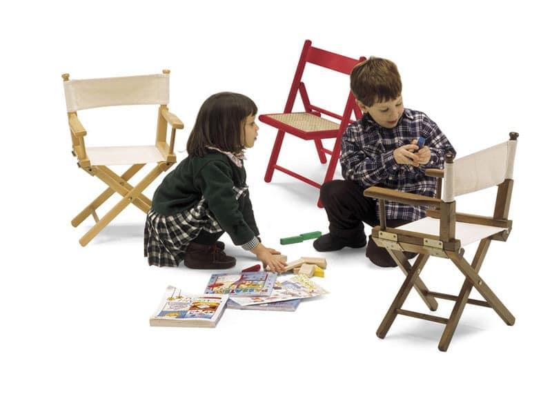 Mini Regista P, Klappstuhl aus Holz und Stoff, für Kinder