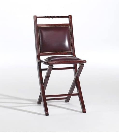 Paola p, Gepolsterte Klappstuhl, mit einem klassischen Stil