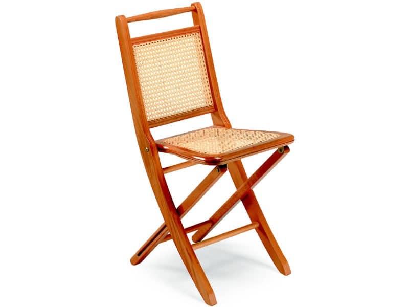 Paola, Die Klappstühle aus Holz, Zuckerrohr Sitz und Rückenlehne