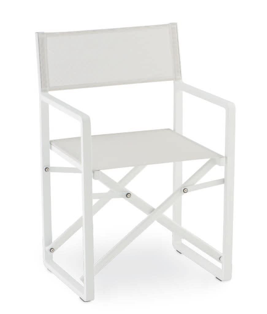 PL 470, Klappstuhl aus Aluminium und textilene, für den Außen
