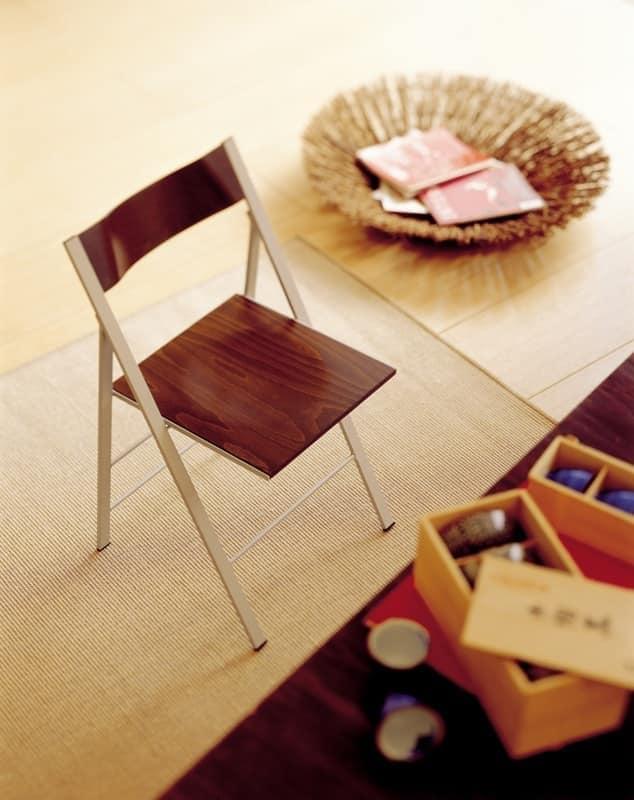 Pocket wood, Klappstuhl mit Metallstruktur, für die Küche