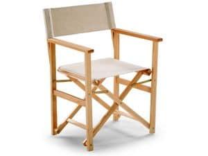Regista D 11, Directors Stuhl, leicht, für Terrasse oder Strandhaus