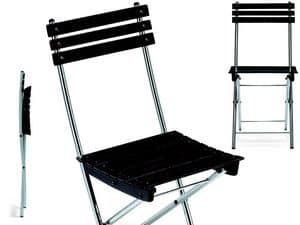 Spring, Platzsparend Stuhl, in Metall und Buche, für den Außenbereich