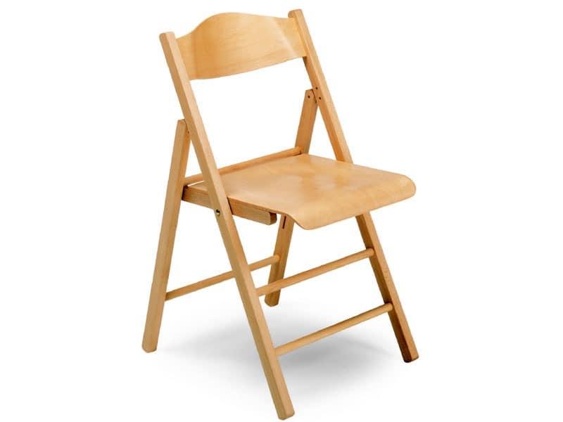 Ugo bis, Holzstühle, faltbar, für Konferenzen und Veranstaltungen