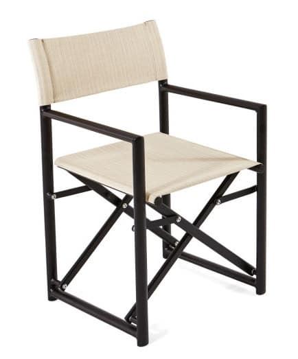 klappstuhl mit batyline stoff f r den au enbereich idfdesign. Black Bedroom Furniture Sets. Home Design Ideas