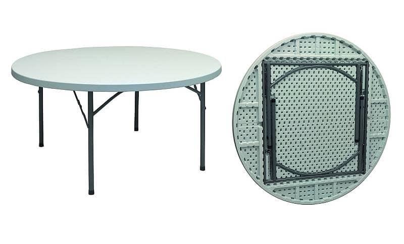 runder klapptisch gestell aus lackiertem eisen idfdesign. Black Bedroom Furniture Sets. Home Design Ideas