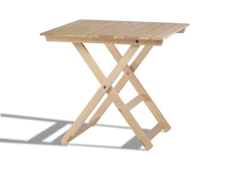 Anni 60, Folding Holztische, für Innen und Außen