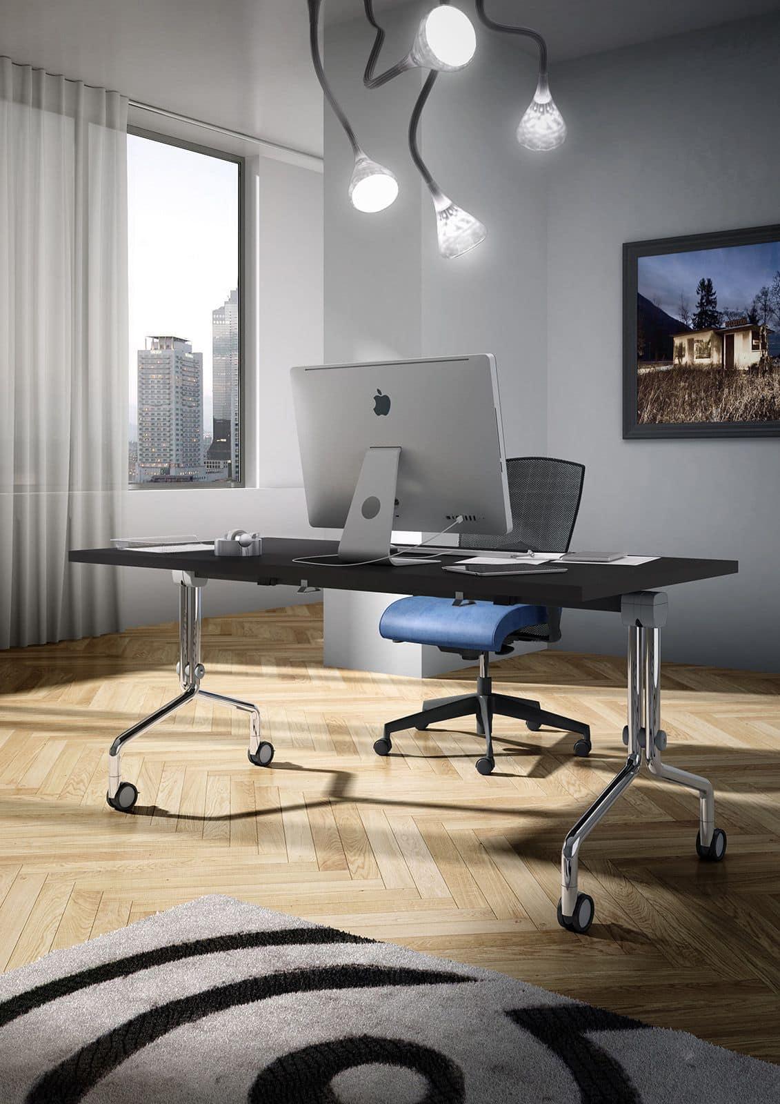 tabelle auf r dern mit verstellbarer spitze f r die. Black Bedroom Furniture Sets. Home Design Ideas