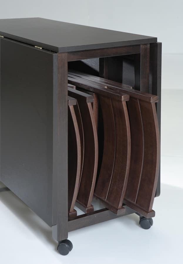 Art. 750 Party, Klapptisch, mit Containerlager für Stühle