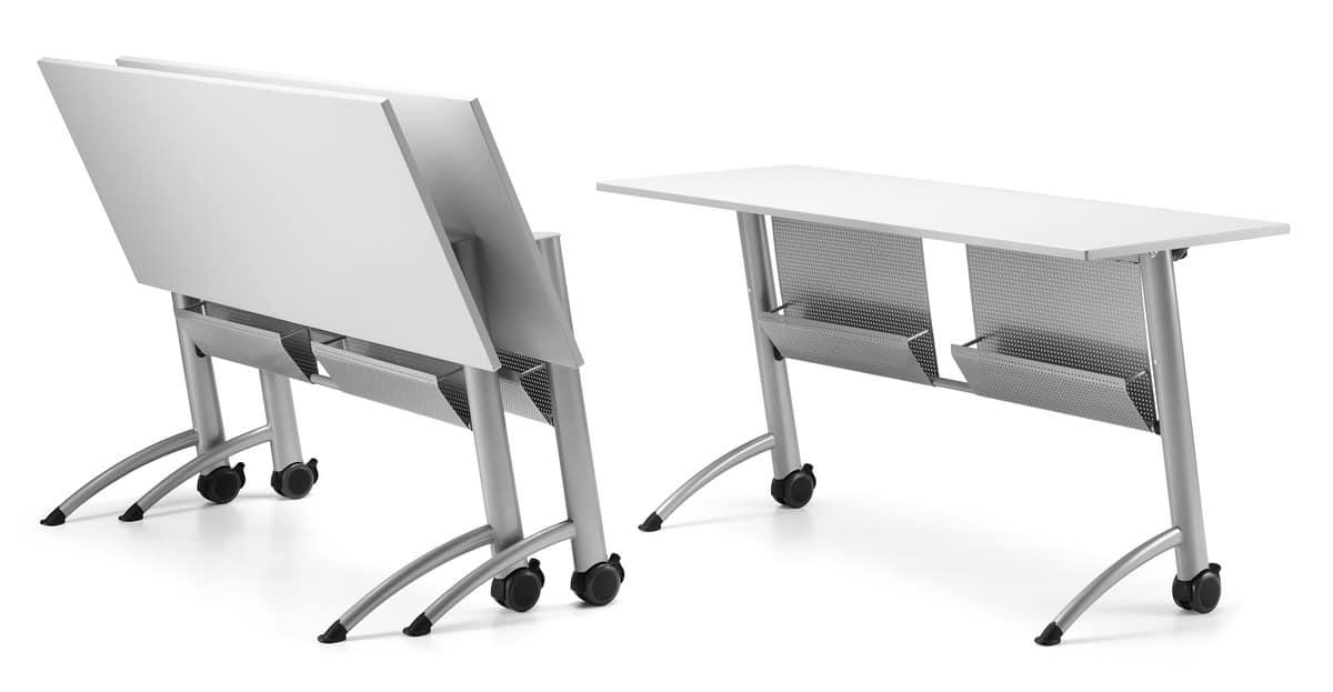 Tabelle mit oben mit rollen klappbar f r bereiche treffen for Praktische tische
