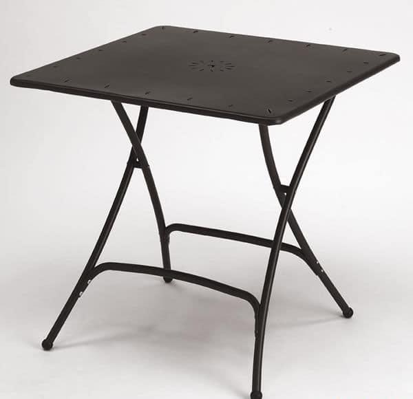Klappbarer Gartentisch Aus Metall Idfdesign