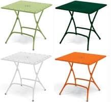 Pieghevole, Klappbarer Gartentisch aus Metall