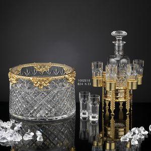 100Z6xx, Set aus luxuriösen Accessoires in 24kt Gold und Kristallbronze