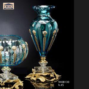 940Bxxx, Türkis und transparente Kristallverzierungen