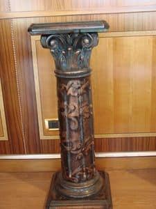 Art. 280, Geschnitzte Säule für Hotel, dekoriert und lackiert