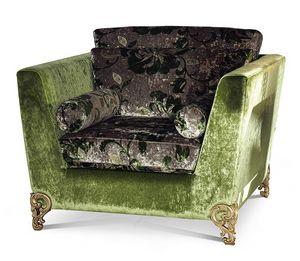 1879/A, Sessel mit geschnitzten Füßen