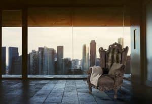 Casanova Nabuk Leder, Sessel für Luxushotels geeignet