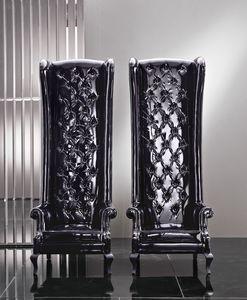 5202 Eiffel, Tufted Sessel mit hoher Rückenlehne