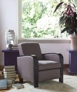 Agata, Moderner klassischer Sessel mit abnehmbarem Bezug