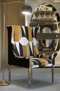 Art. 31711, Sessel mit retro geometrischen Stoff
