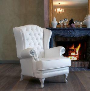 Art. 5088, Bergere Sessel, ganz in weißer Farbe