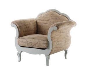 Art. AX406, Sessel im provenzalischen Stil, gepolstert, für Hotels