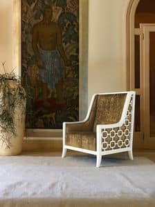 Art. VL933, Gepolsterte Sessel in Holz, für Wohnzimmer