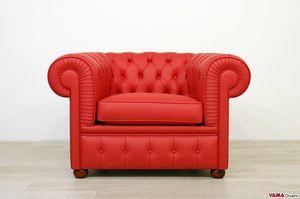 Chesterfield-Sessel, Sessel wahrer Meisterwerk Made in Italy, elegant und bequem