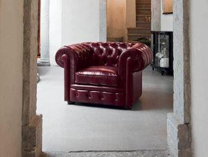 CLASSIC, Sessel im klassischen Stil mit hohen Armlehnen