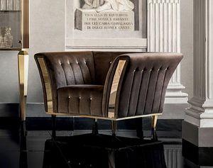 DIAMANTE Sessel, Sessel mit einem klassischen Design, für raffinierte Wohnzimmer