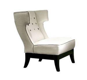 Isotta, Sessel mit klassischem Design und umhüllender Rückenlehne