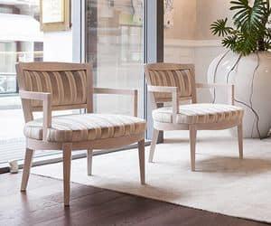 Madame, Sessel aus massiver Buche, schlicht oder buschigen Rückenlehne