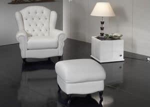 My Chair, Sessel mit gesteppter Polsterung aus gefaltetem Leder bezogen