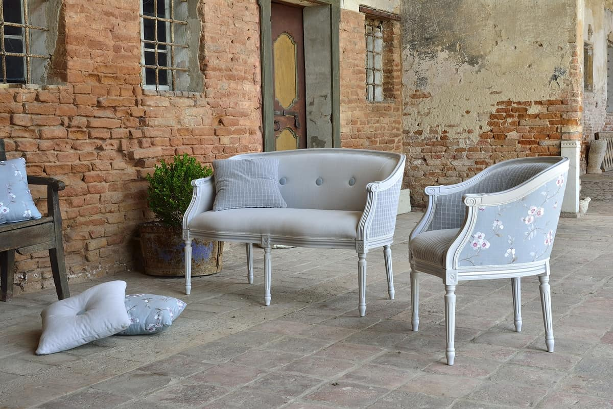 ORNELLA Sessel 8039A, Polster Buche Sessel, für die traditionellen Salons