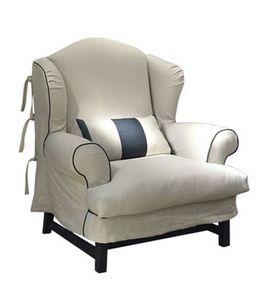 Ottone, Klassischer Sessel mit abnehmbarem Bezug