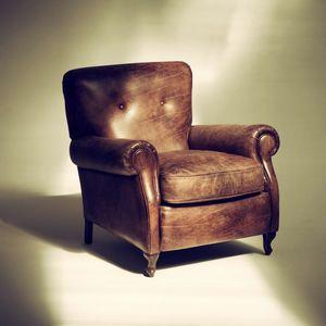 Roma Sessel, Klassischer Sessel aus Naturkeramikleder