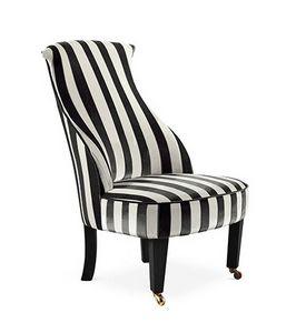 Romea, Sessel mit hohem Rücken und Rädern in den Vorderbeinen