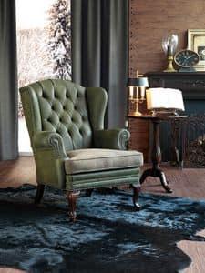 Sinatra, Gepolsterten Sessel in Buche