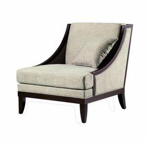 Vendome poltrona, Sessel mit niedriger Rückenlehne, für Wohnzimmer