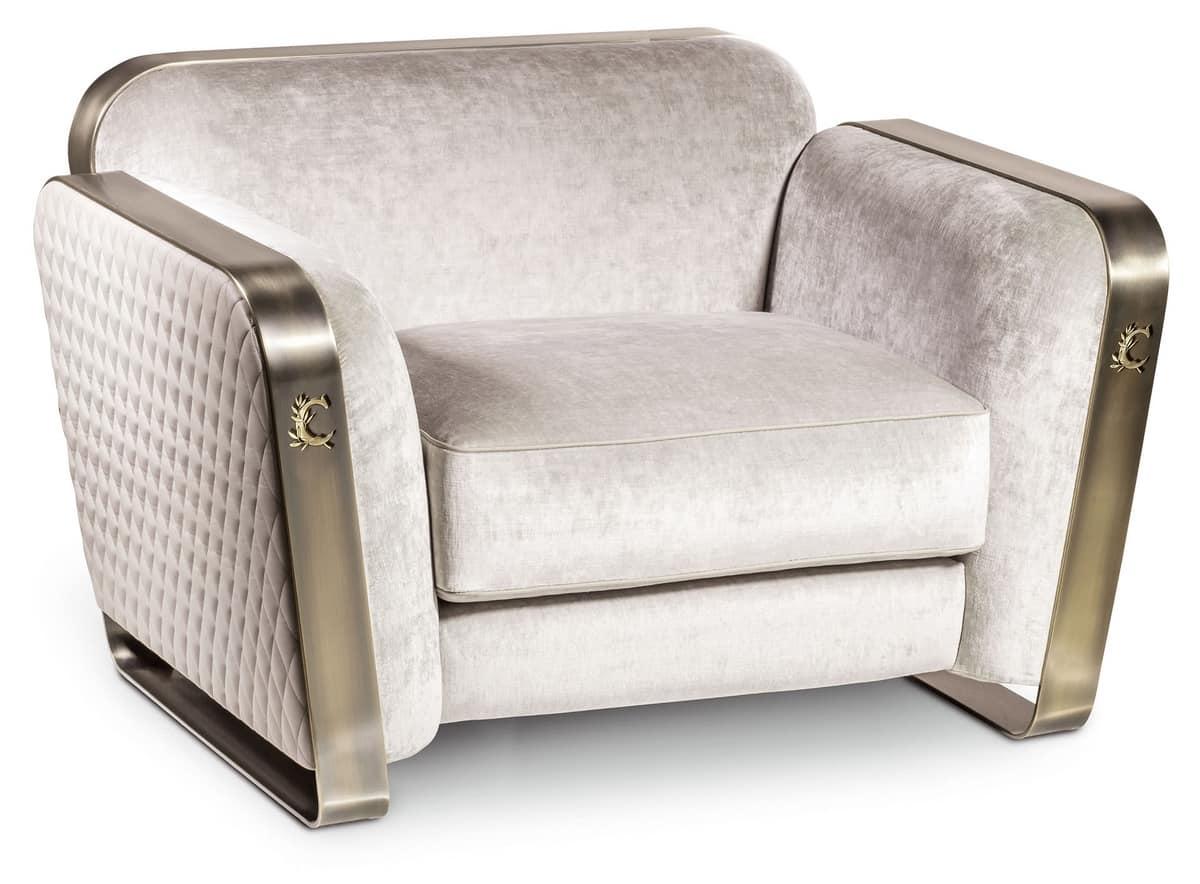Vintage Sessel Aus Metall Und Stoff Idfdesign