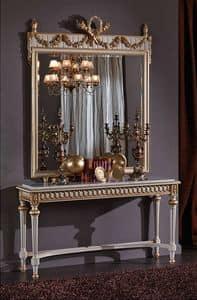 3425 CONSOLE, Konsole mit Marmorplatte, im Stil Louis XVI