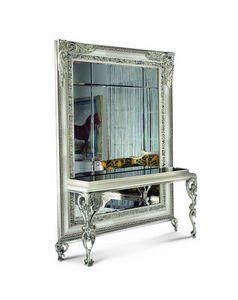4044AB, Klassischer Spiegel mit Konsolentisch