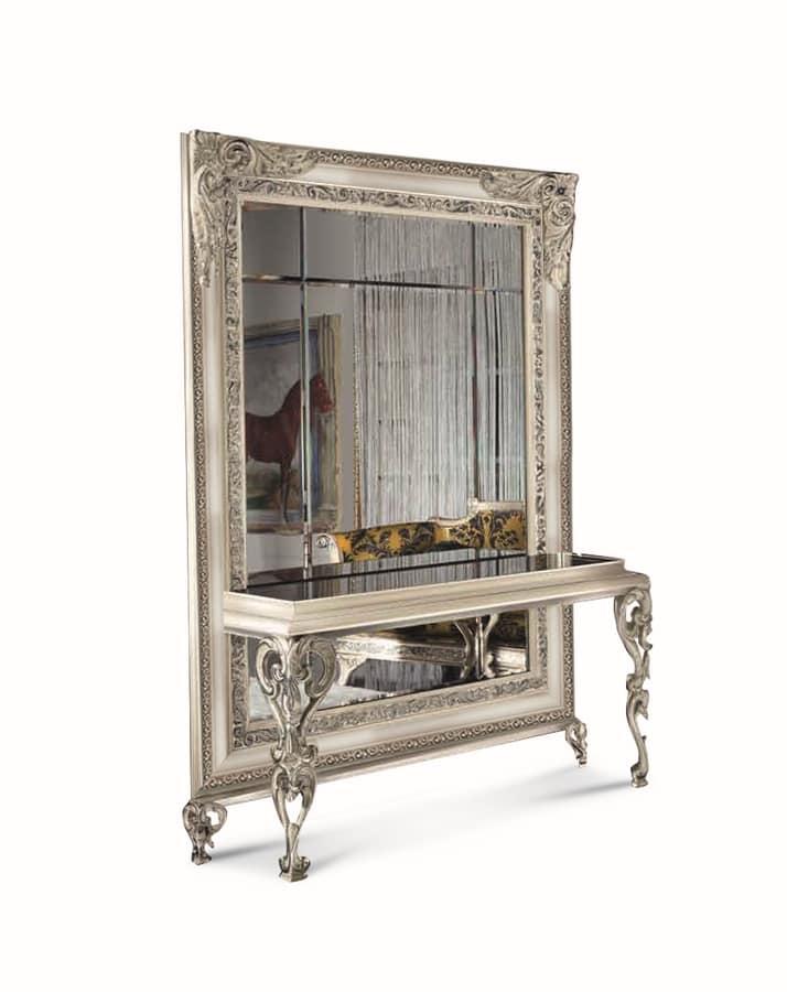 Konsolentisch Spiegelglas.Klassischer Spiegel Mit Konsolentisch Idfdesign