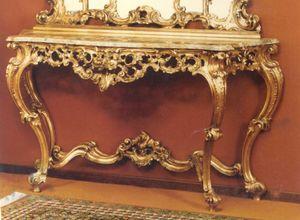 560 Konsole, Barocke Konsole mit Marmorplatte